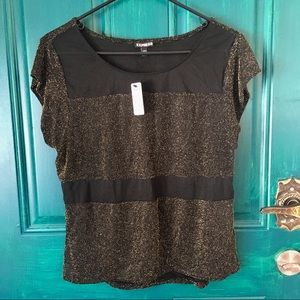 Express Gold Sparkled Top